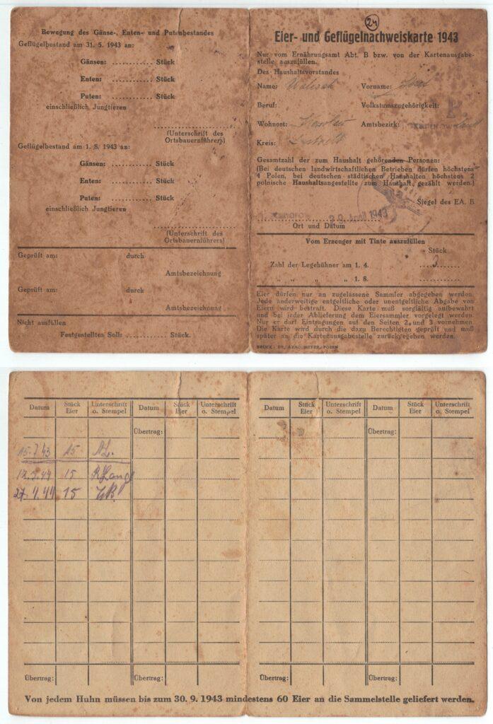 Dokument niemiecki. Rozliczenie za mięso i tusze