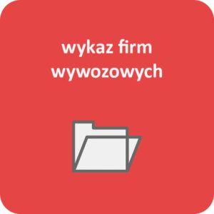 Grafika z napisem wykaz firm wywozowych