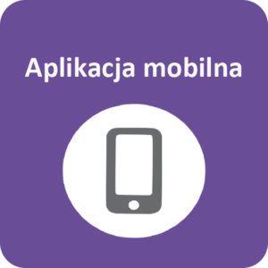 Grafika z napisem Aplikacja mobilna